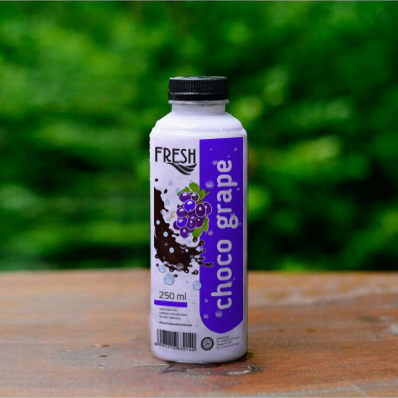 img minuman coklat varian grape dari fresh