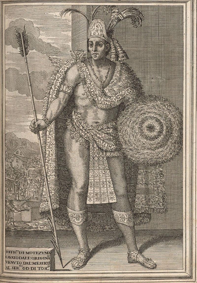img King of Aztec, Montezuma II sejarah coklat