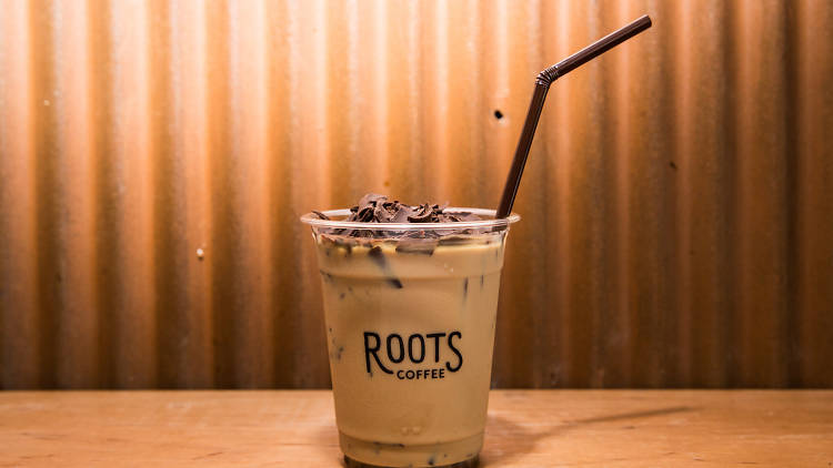 roots coffee cara membuat es kopi susu