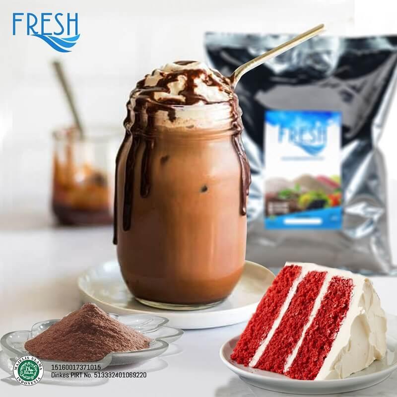 bubuk minuman coklat rasa choco red velvet